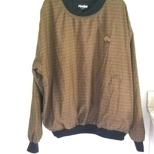 Roche tan plaid reversible all weather golf pullover from Fossil Creek XXL
